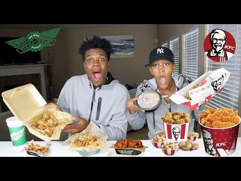 WINGSTOP & KFC MUKBANG WHAT WE DOING ONCE WE HIT 1 MILLION!!!