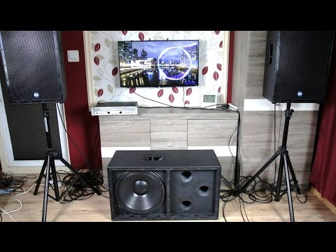 How To Build 18 Inch Pa Subwoofer Sound Amp Bass Excursion