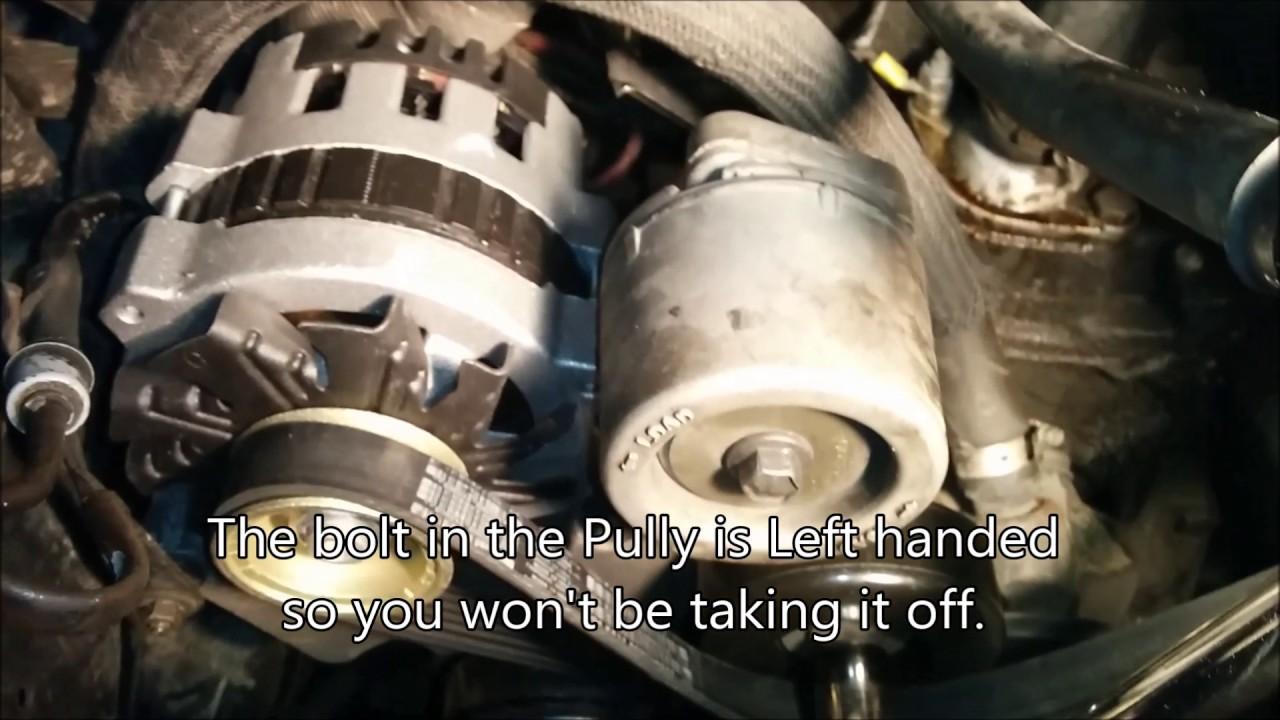 how to change 84 - 90 - 94 chevy astro van, gmc safari alternator  replacement fix