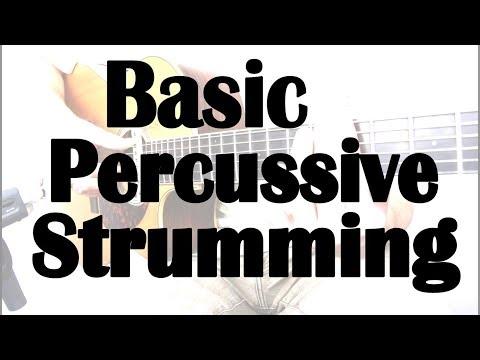 Advanced Strumming Techniques in HD - Lesson 1 - Basic Percussive Strumming