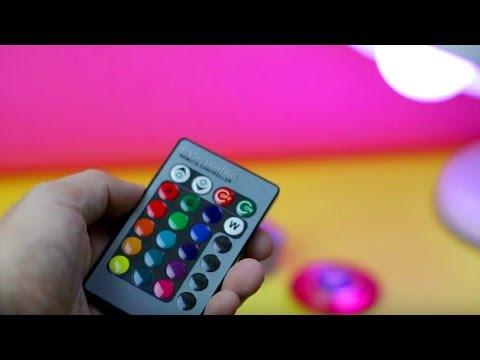 RGB LED Bulb Remote Control Review - Cheap Magic Lighting Bulb