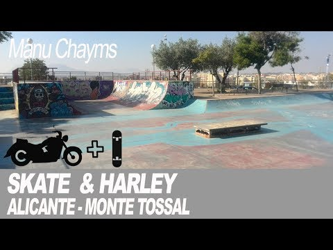 skateboard-y-harley:-skate-park-de-alicante-monte-tossal