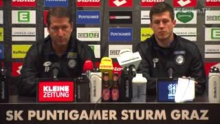 SK Sturm: Mediabriefing vor FC Admira Wacker (26. Runde 2016/17)