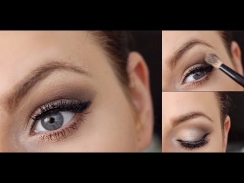 make up f r blaue augen bronze glitter make up tutorial. Black Bedroom Furniture Sets. Home Design Ideas