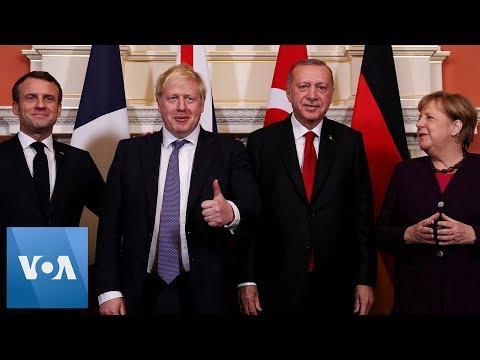 NATO Summit: Johnson, Erdogan, Macron, Merkel, Trudeau & Duda Arrive to Buckingham Palace