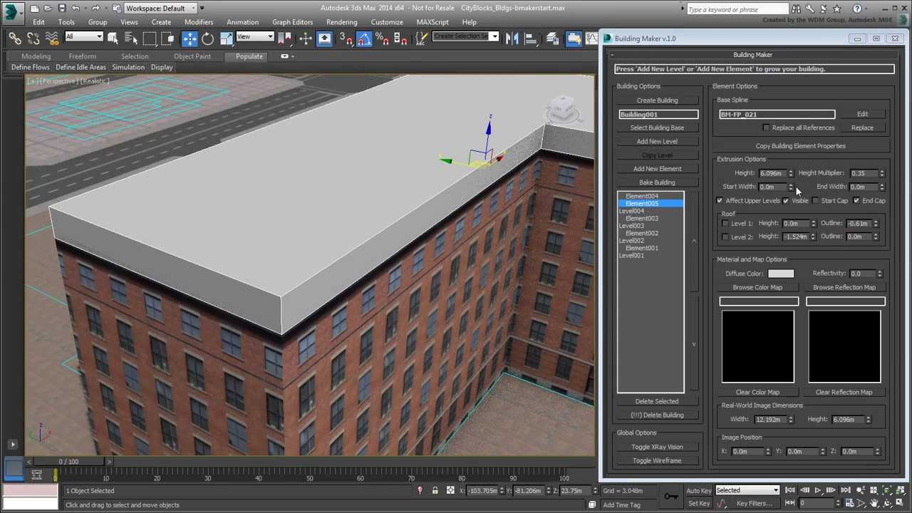 3ds max creating city blocks part 22 creating low