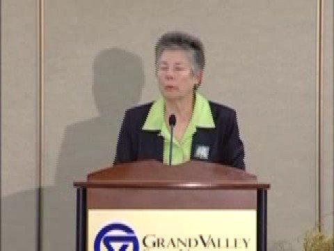 Martha Burk speaks at GVSU