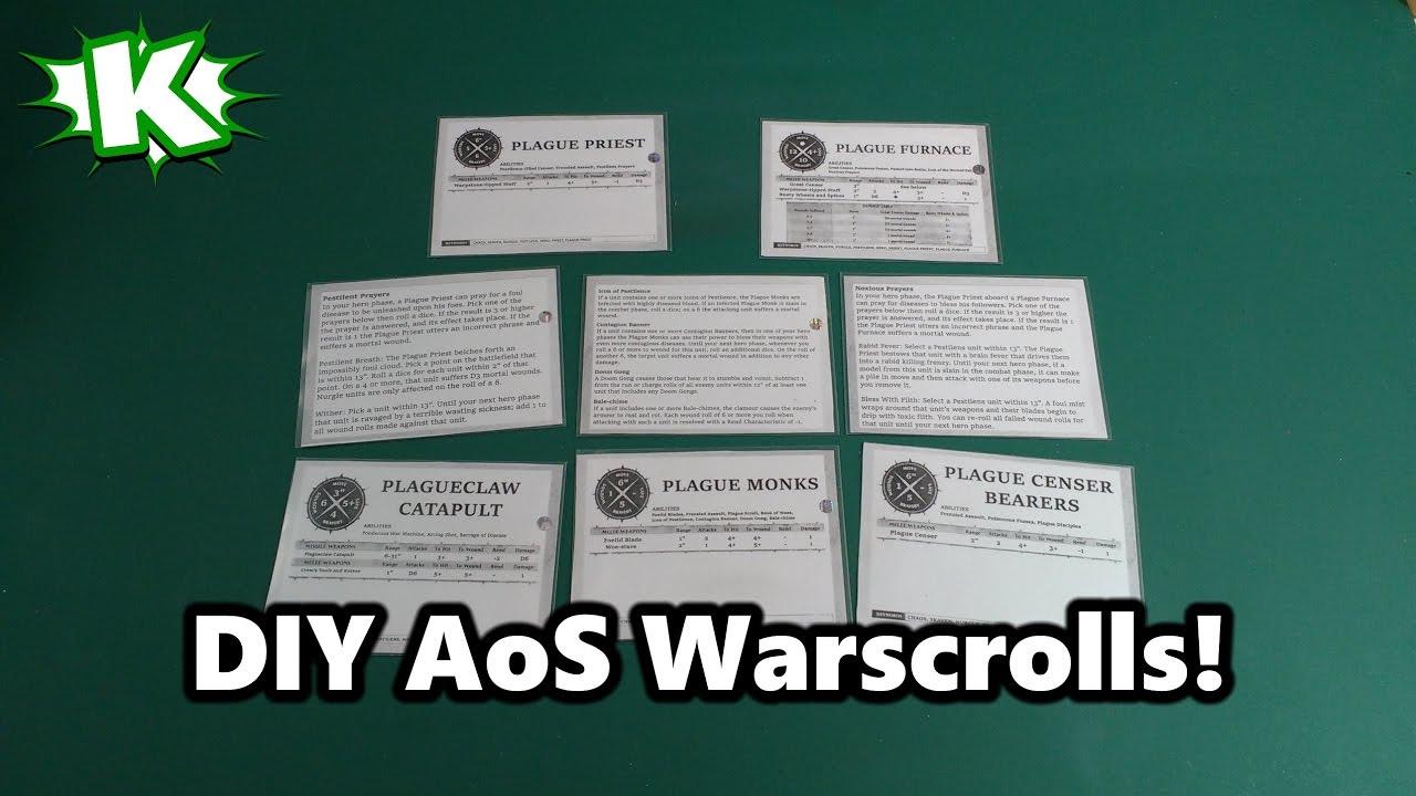 DIY AoS Warscroll Cards