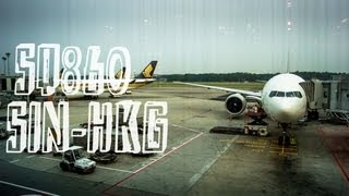 Singapore Airlines SQ860 : Flying from Singapore to Hong Kong