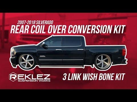 2007-2018 Silverado Rear Coil Over Conversion Kit, QA1,Tuck Big