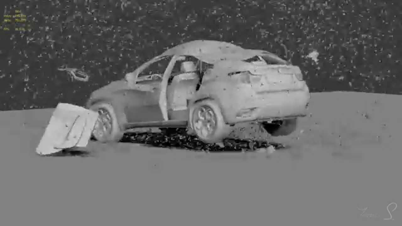 3ds max Car Explosion Test Scene