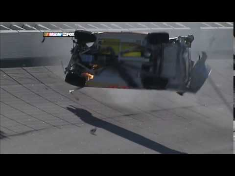 Michael McDowell Crash at Texas Motor Speedway (HD)