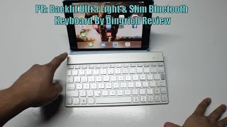 pr backlit ultra light slim bluetooth keyboard by dingrich review