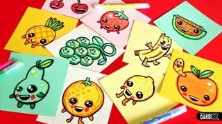 How To Draw Cute Fruits - Easy & Kawaii Drawings by Garbi KW