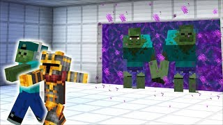 DANGEROUS ZOMBIE'S APPEAR FROM AN UNKNOWN PORTAL !! KEEP THE HOUSE SAFE !! Minecraft Mods