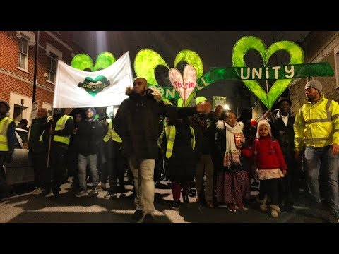 The Grenfell Community's Silent Steps for Justice