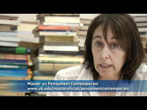 Màster en Pensament Contemporani. Universitat de Barcelona