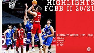 Highlights Lennart Weber // FCBB II ProB 2020/21