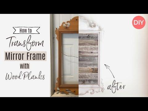Wood Plank Mirror Frame | Ashleigh Lauren