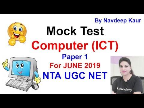Mock Test 79 NTA NET Computer (ICT) Paper 1 For JUNE 2019