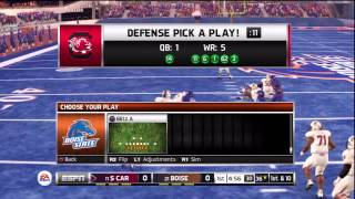 NCAA Football 13 - South Carolina vs Boise State HD Gameplay Playstation 3