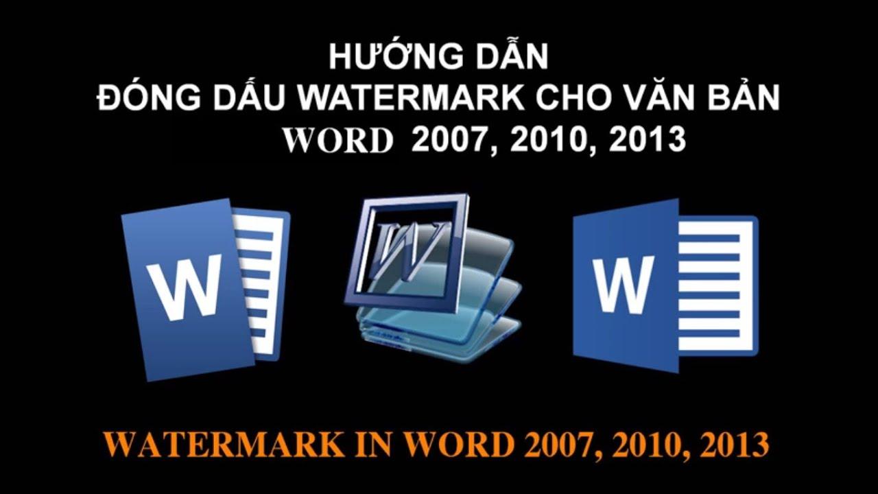 Tạo hình ảnh hoặc chữ mờ dưới nền trang Word bằng Watermark | namloan