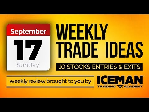 9/17/17 #WEEKLY #TRADE #IDEAS $X $DSW $AGEN $ESPR $SNAP $EAT $RRGB $Z $VSTO $BCOV