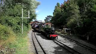 Cleethorpes Coast Light Railway - Visiting loco Katie arrives in Lakeside Loop - 11/08/13