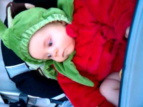 Chili pepper costume !!! And no he is not a tomato & Chili pepper costume !!! And no he is not a tomato - YouTube
