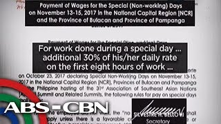 TV Patrol: Suweldo may dagdag para sa papasok sa special non-working day