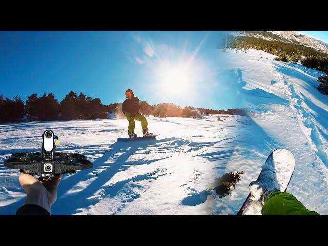 Insta360 GO 2 - SNOWBOARD session POV x FPV