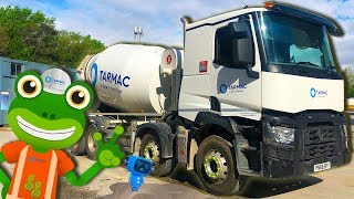 Concrete Mixer Trucks For Kids | Gecko's Real Vehicles | Construction Trucks For Children
