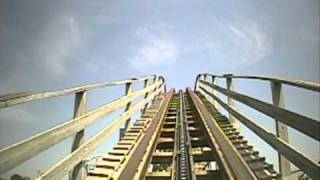 The Outlaw Wooden Roller Coaster Front Seat POV Adventureland Des Moines Iowa