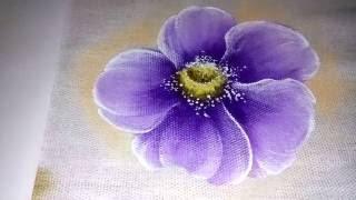 Pintura em tecido – Veja como pintar flor do campo