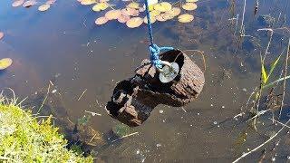 Magnet fishing German WW2 pond . Machine gun parts..