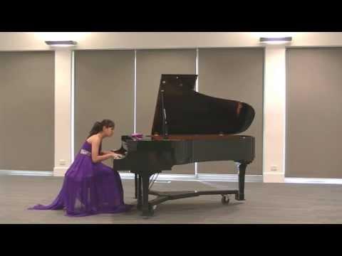 Nina Fan (13yrs) performed Mozart - Piano Sonata in E flat Major, K333. 2nd Movement