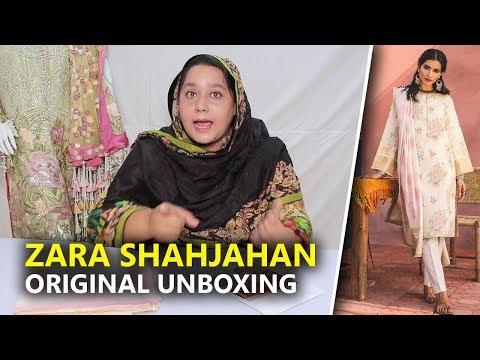 Zara Shahjahan Lawn 2019   Kantha B Unboxing Sara Clothes   Hina Altaf
