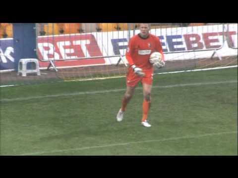 Alan Marriott's superb goalkeeping, in wet conditions, Mansfield v Bristol Rovers  12Oct2013