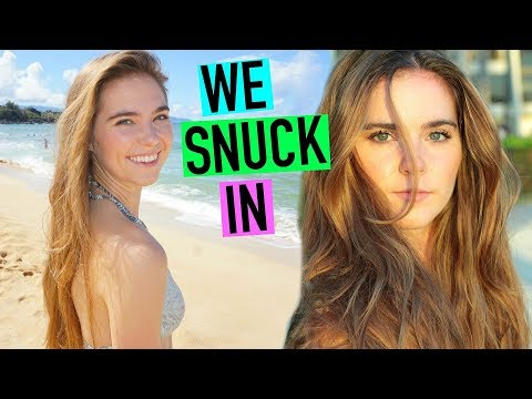 We Snuck Into A Resort In Hawaii! (VLOG)  - Nina and Randa