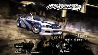 NFS Most Wanted - Debug Car Customize in Main Menu