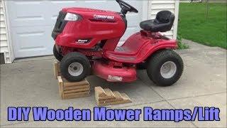 DIY - Wooden Riding Lawn Mower Ramps / Lift