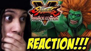 MY CHILDHOOD IS HERE! Street Fighter V: Arcade Edition - Blanka Gameplay Trailer REACTION!!!