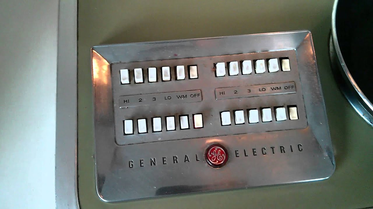 The 1960s Ge Electric Cook Top With Buttons Youtube