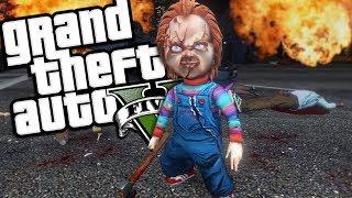 GTA 5 Mods - The RETURN of CHUCKY mod!! Chucky returns after a long...