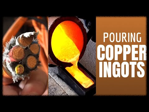 Trash To Treasure - Monster Copper Cable Melt into Copper  Ingots & Coins ASMR