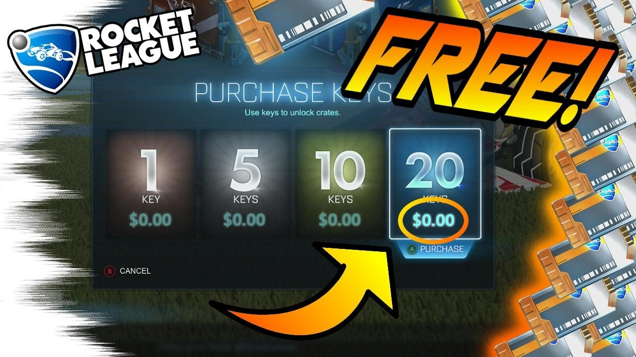 Nieuw HOW TO GET FREE KEYS in Rocket League! - No Glitches, Easy, and XZ-88