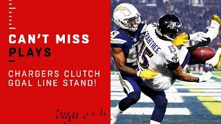 Chargers Clutch Goal Line Stand!