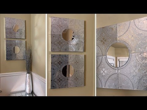 Dollar Tree DIY || 💕 Silver Metallic Wall Art || Glam Decorating Ideas 2019 💕