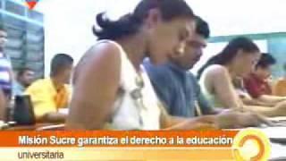 CHAVEZ CREADOR DE LA MISION SUCRE