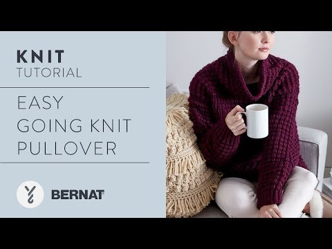 Knit Easy Going Knit Pullover in Bernat Roving by Kristen Mangus